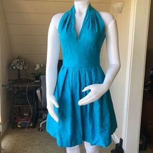 80s vintage halter party dress